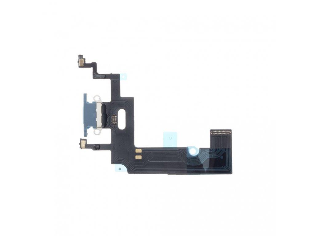 OEM Flex kabel iPhone XR + konektor nabíjení modrý