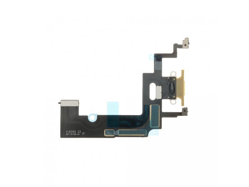 OEM Flex kabel iPhone XR + konektor nabíjení žlutý 3