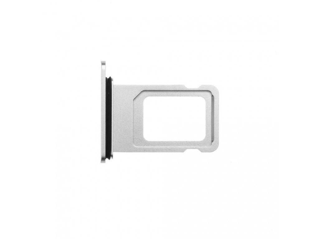 Šuplík na SIM kartu OEM pro iPhone XR stříbrný