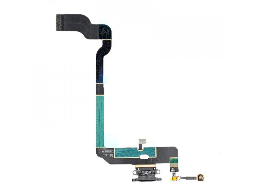 Apple iPhone XS nabíjecí konektor flex mikrofon lightning port černý OEM