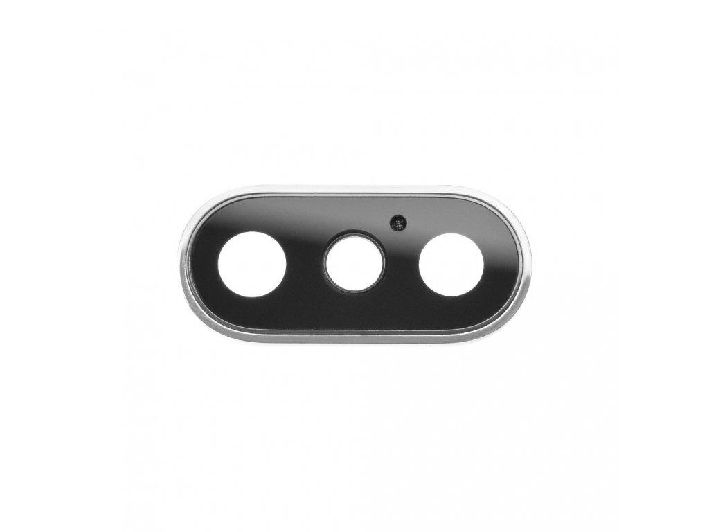 Krytka čočky fotoaparátu OEM pro iPhone XS Max stříbrná