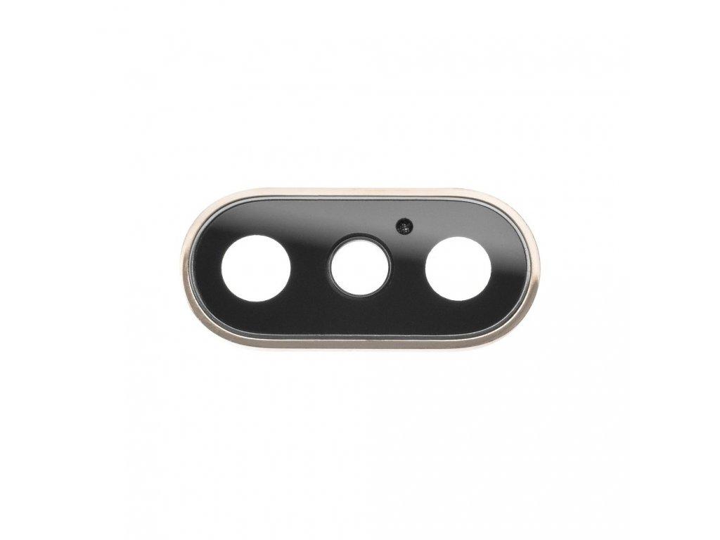 Krytka čočky fotoaparátu OEM pro iPhone XS Max zlatá