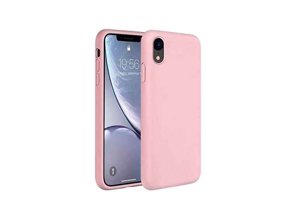 Silikonové pouzdro pro iPhone XR, růžová