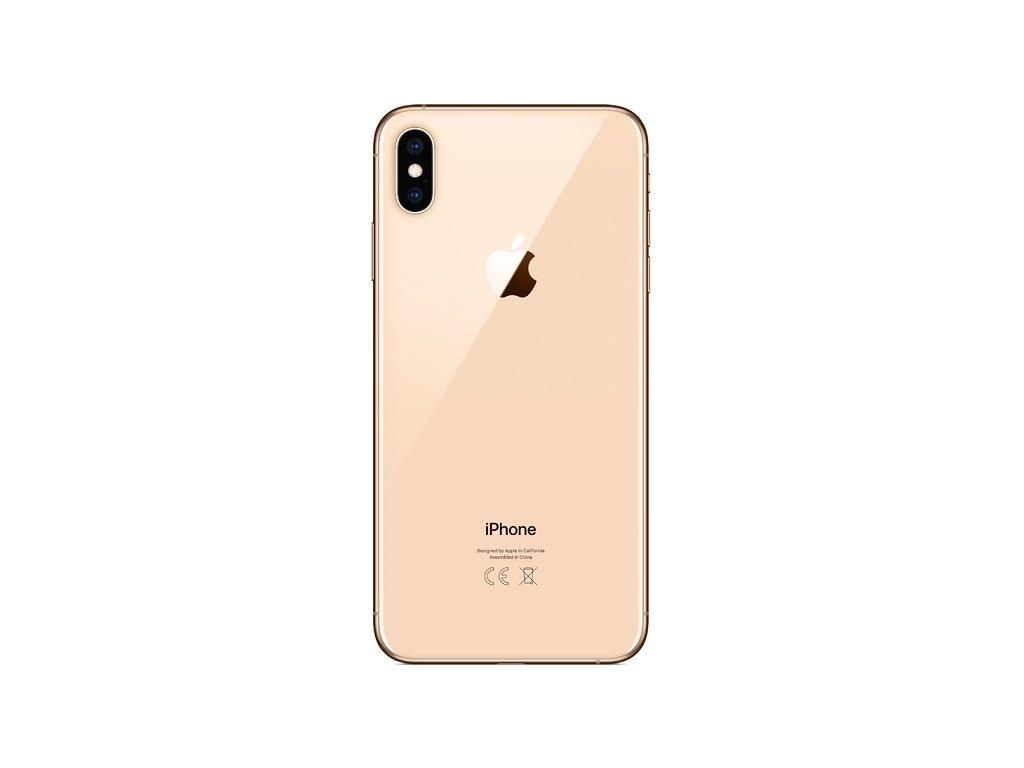 Skleněný zadní kryt baterie pro iPhone XS Max zlatý