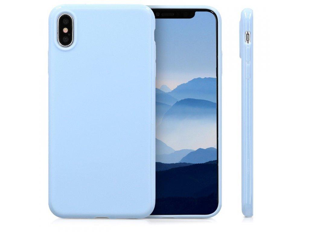 Silikonové pouzdro pro iPhone XR, světle modrá