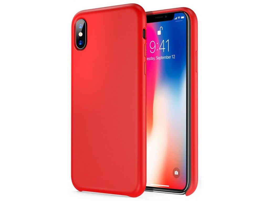 Silikonové pouzdro pro iPhone Xs Max, červená