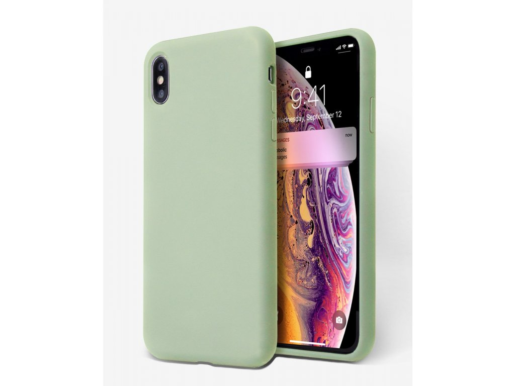 Silikonové pouzdro pro iPhone Xs Max, zelená
