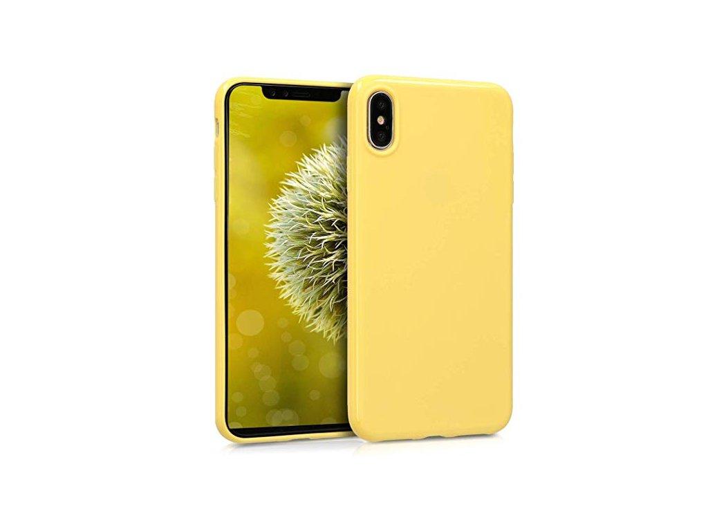 Silikonové pouzdro pro iPhone Xs Max, žlutá