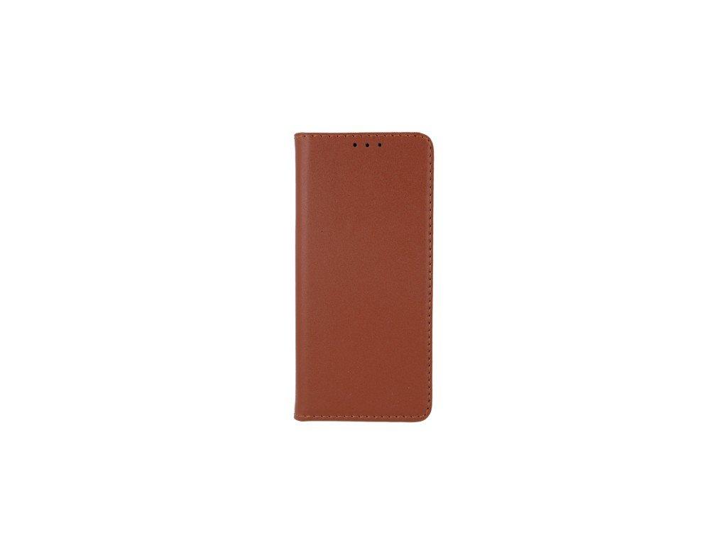 Pouzdro (knížka) kožená pro iPhone 11 Pro hnědá