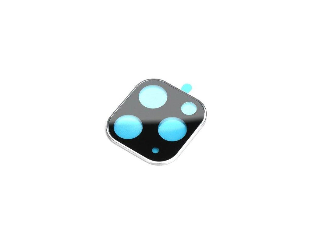 Ochranné tvrzené sklo na zadní fotoaparát pro iPhone 11 PRO Max střibrný rámeček