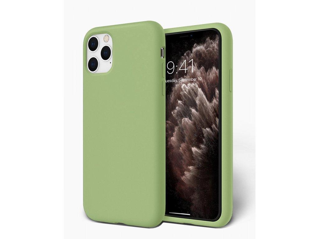 Silikonové pouzdro pro iPhone 11 Pro Max zelené