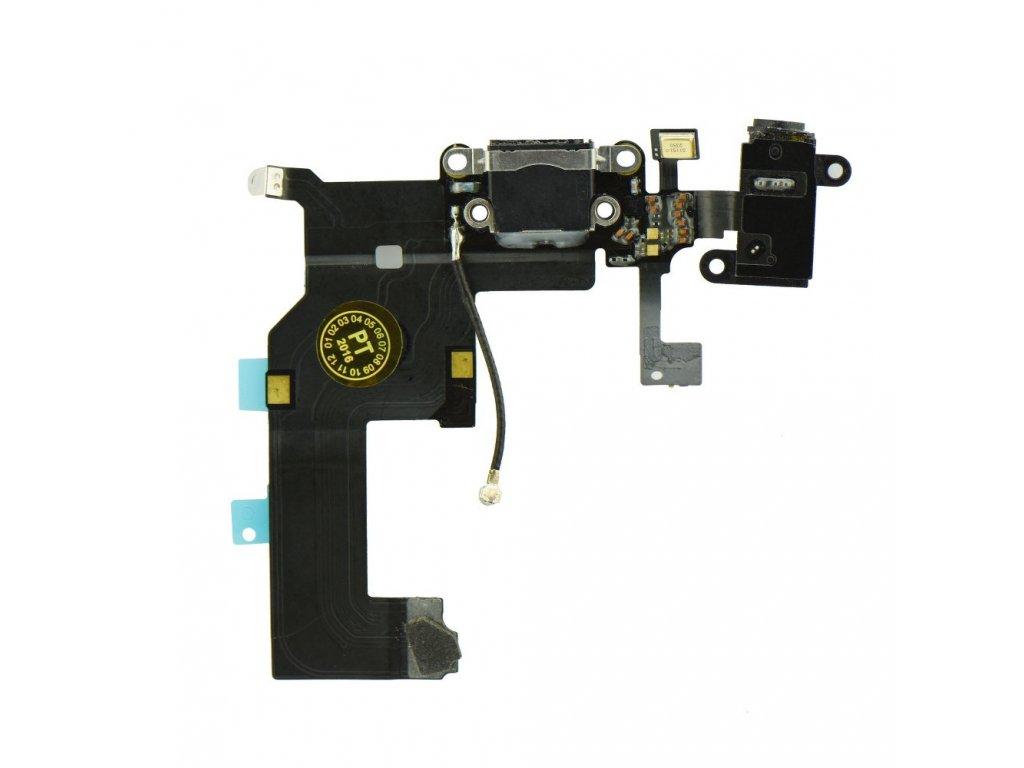 Flex kabel iPhone 5 + konektor nabíjení černý 1