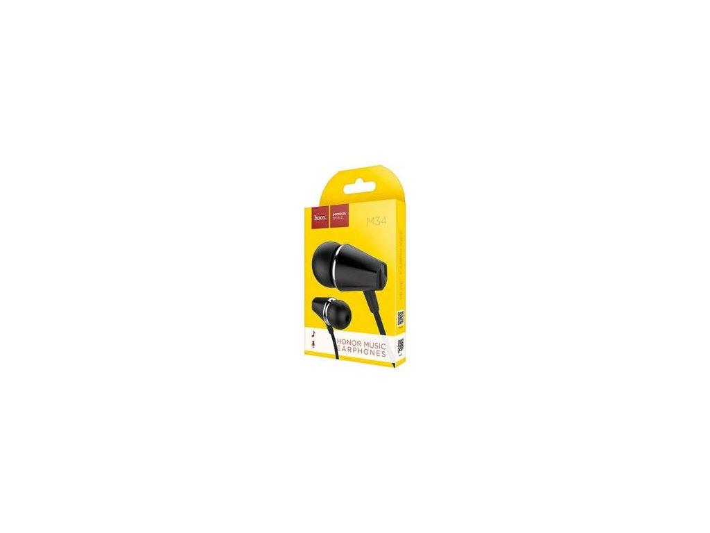 Sluchátka Hoco M34 pro iPhone 3,5 jack černé