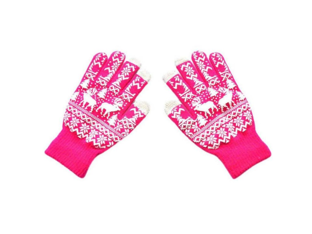 Rukavice pro Smartphony růžová