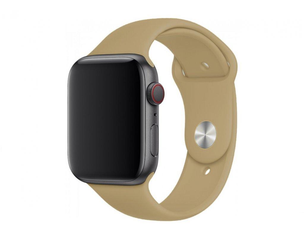 Bežový silikonový řemínek pro Apple Watch 38 a 40 mm