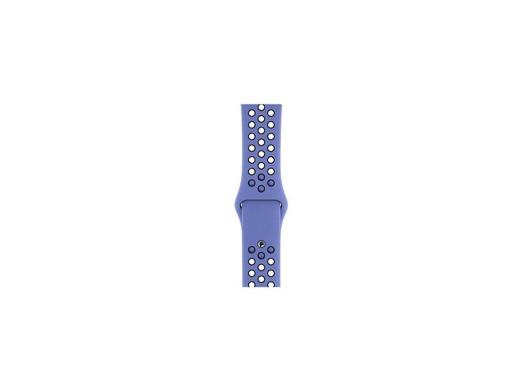Modrofialový silikonový řemínek pro Apple Watch 42 a 44 mm