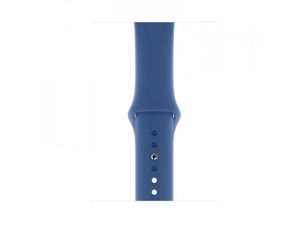 Modrý silikonový řemínek pro Apple Watch 38 a 40 mm