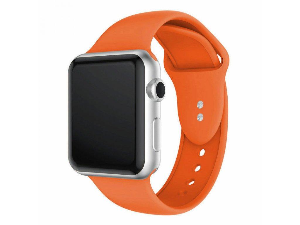 Oranžový silikonový řemínek pro Apple Watch 40 a 44 mm
