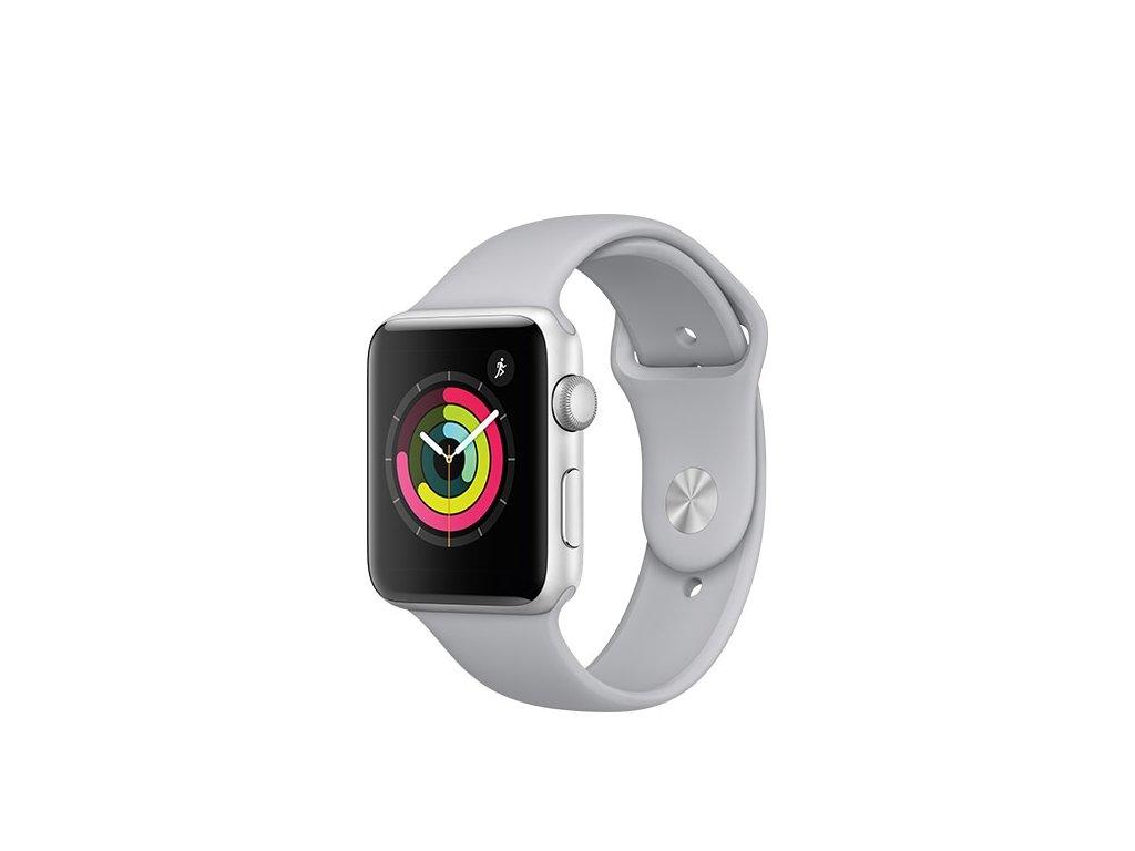 Šedý silikonový řemínek pro Apple Watch 38 a 40 mm