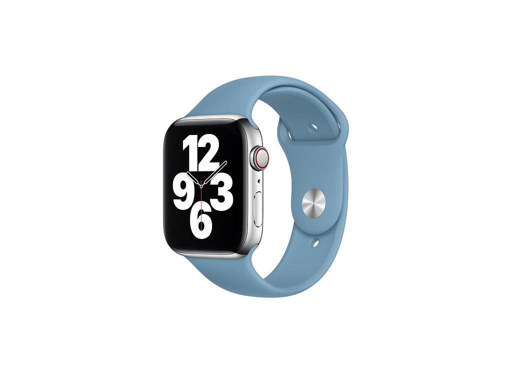 Severský modrý silikonový řemínek pro Apple Watch 38 a 40 mm