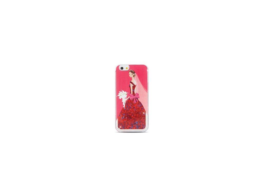 Pouzdro Liduid TPU Glitter Lady pro iPhone 66S