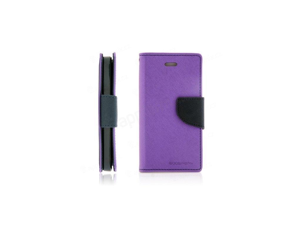 830 mercury pouzdro book apple iphone XS fialove