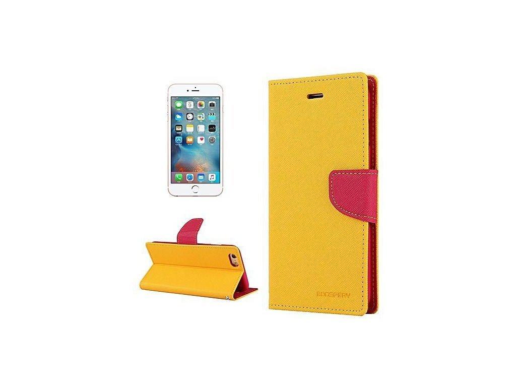 836 mercury pouzdro book apple iphone XS zlute