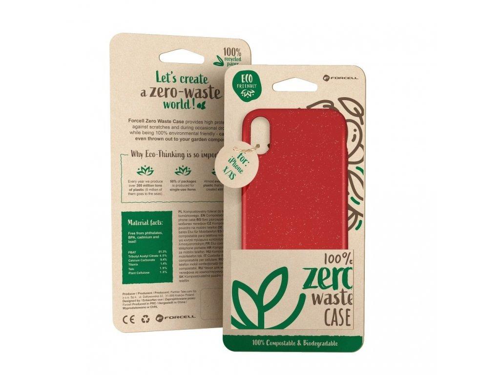 148703 3 pouzdro forcell bio zero waste case iphone 11 pro max cervene