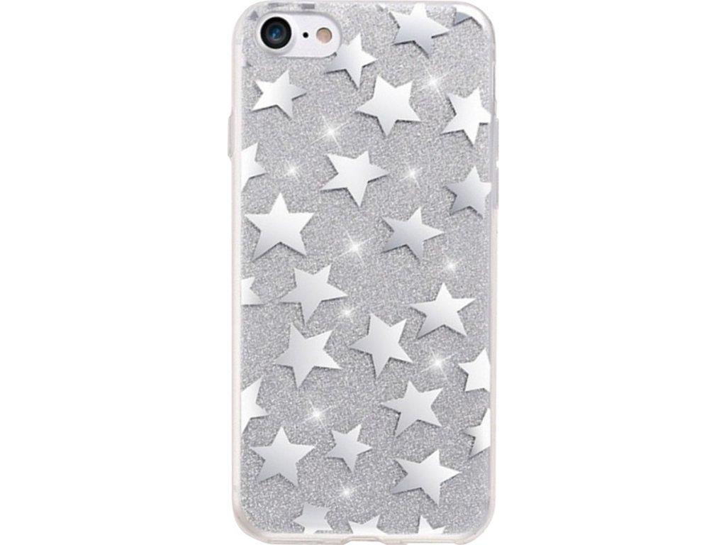 Pouzdro Fashion Glittar Stars pro iPhone 6Plus 6S Plus stříbrné