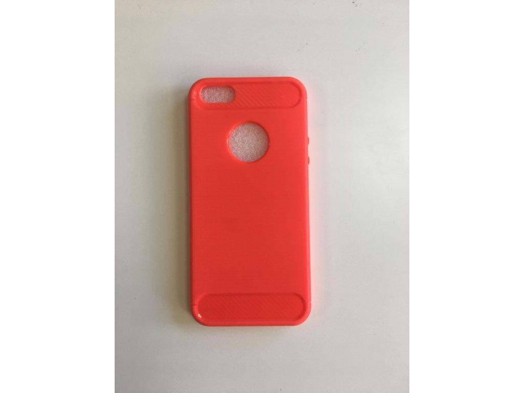 Pouzdro Carbon Fiber TPU pro iPhone 5