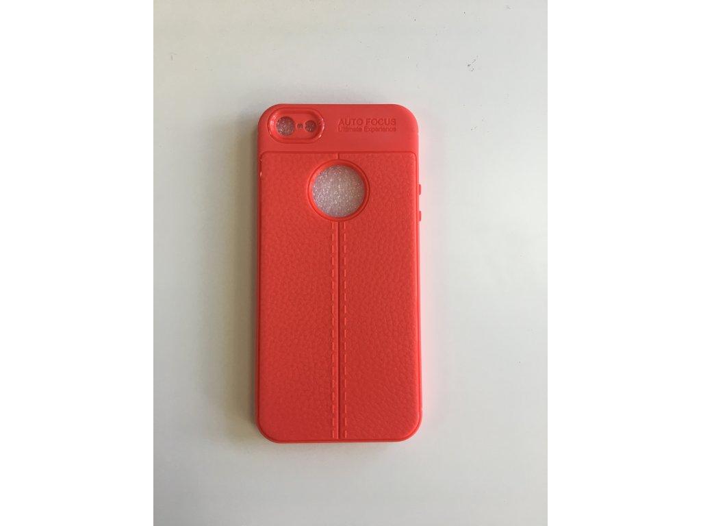 Pouzdro Carbon Fiber TPU pro iPhone 5 červené