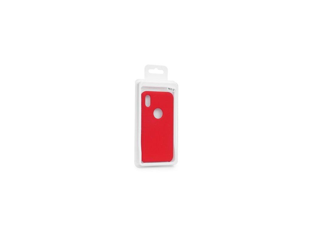 Pouzdro Forcell SILICONE pro iPhone 8 červený (s výřezem na logo)