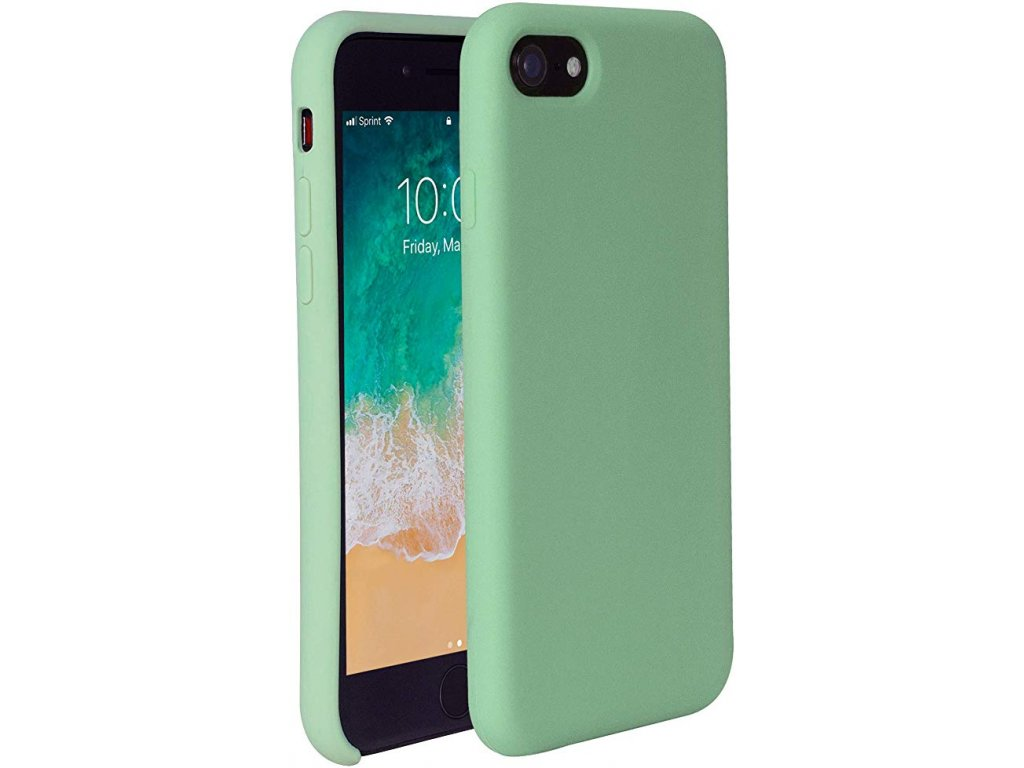 Silikonové pouzdro pro iPhone 78SE 2020 zelené
