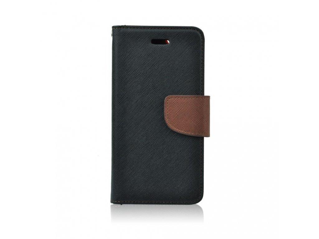 Mercury pouzdro Book Apple iPhone 7 PLU 8 PLUS černo hnědé