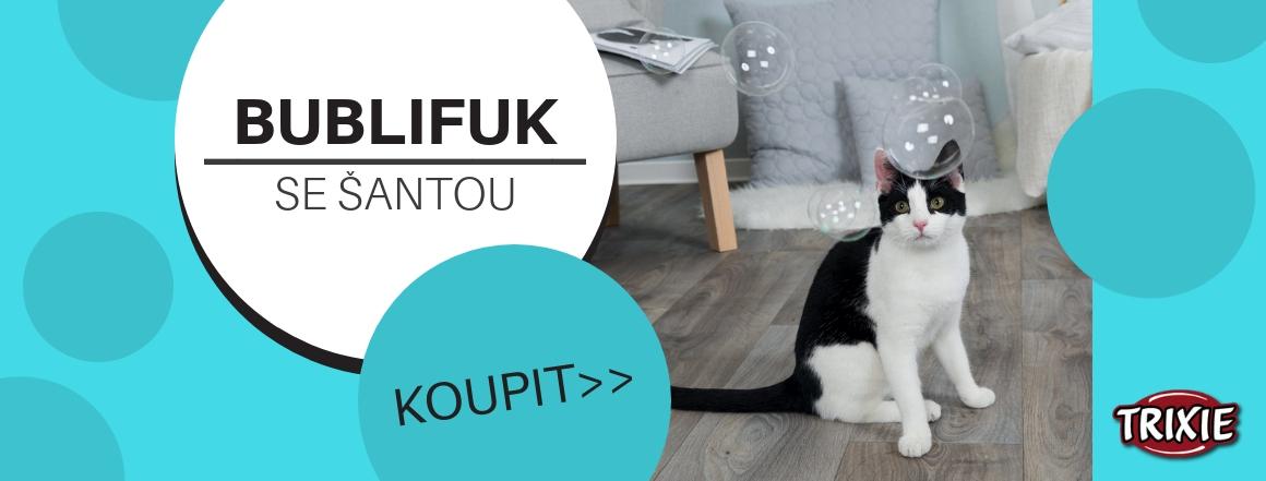 Bublifuk se šantou - hračka pro kočky