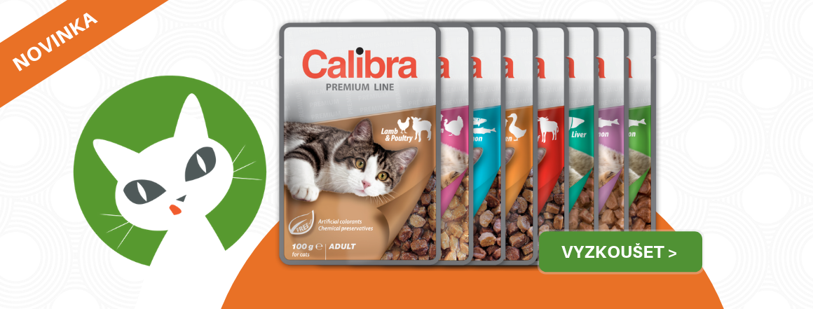Nové české kapsičky Calibra pro kočky