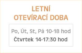 Letní otevírací doba prodejny v Olomouci