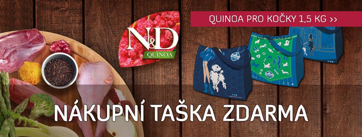 N&D Quinoa pro kočky 1,5 kg + nákupní taška zdarma
