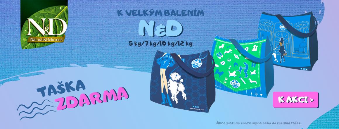 Nákupní taška navíc ke krmivu ND pro kočky i pro psy