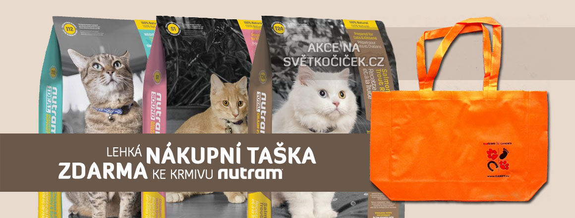 Akce taška zdarma ke krmivu Nutram