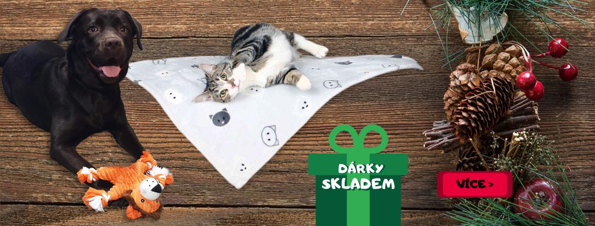 Vánoční dárky pro kočky a psy skladem