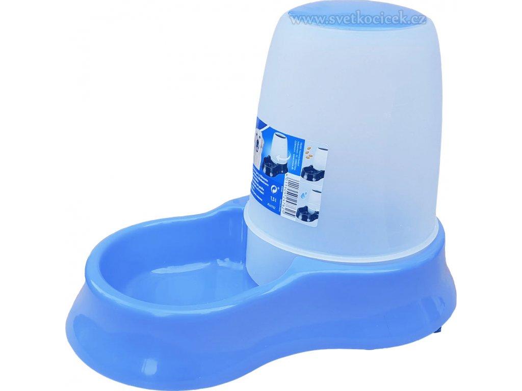Zásobník na krmivo a vodu světle modrý+
