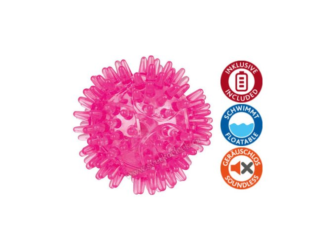 Blikací svítící míček 5 cm - hračka pro pejsky
