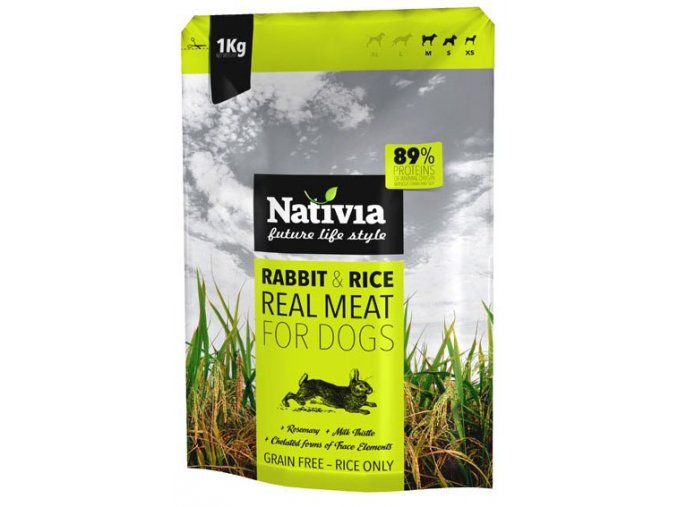 Nativia Real Meat Rabbit and Rice 8 kg