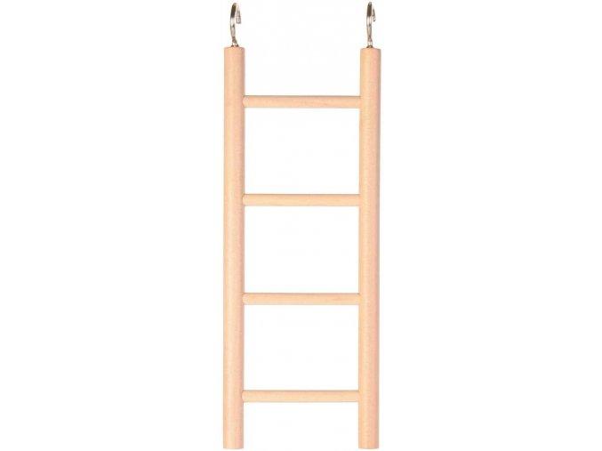 Dřevěný závěsný žebřík Trixie 4 příčky 20 cm