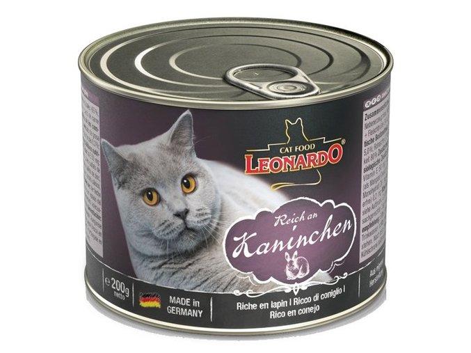 Leonardo s králíkem - konzerva pro kočky 200 g