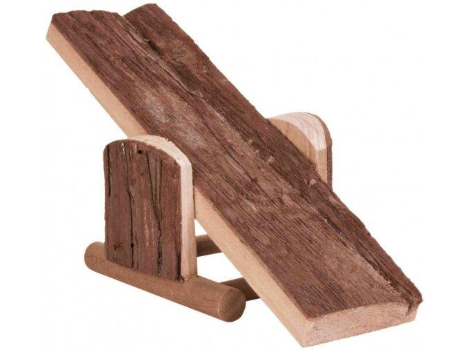 Dřevěná houpačka pro křečka nebo myš