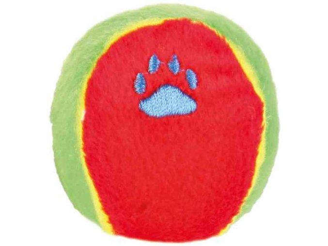 Plyšový míček se zvukem 6 cm