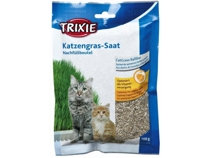 Měkká tráva s vitamíny v sáčku pro kočky a koťata 100 g