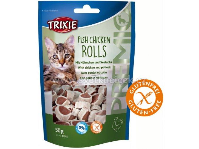 Trixie Premio Rolls kuře a losos 50 g - pamlsky pro kočky bez cukru a lepku